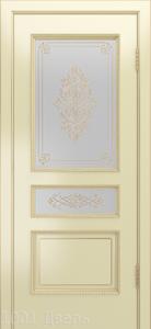 Двери-Лайндор-Калина-П-эмаль-бесквит-стекло-Дамаск