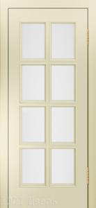 Двери-Лайндор-Аврора-К-эмаль-бискит-стекло-белое