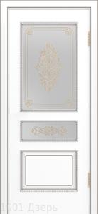 Двери-Лайндор-Калина-П-эмаль-белая-стекло-Дамаск