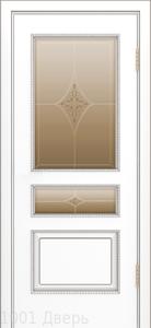 Двери-Лайндор-Калина-П-эмаль-белая-стекло-Гелиос-бронза