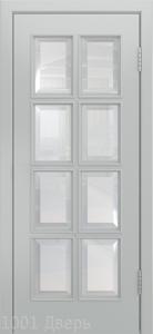 Двери-Лайндор-Аврора-К-эмаль-серая-стекло-фацет