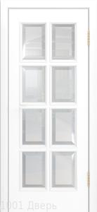 Двери-Лайндор-Аврора-К-эмаль-белая-стекло-фацет