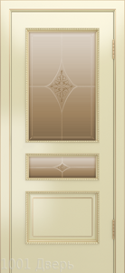 Двери-Лайндор-Калина-П-эмаль-бисквит-стекло-Гелиос-бронза