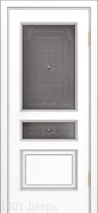 Двери-Лайндор-Калина-П-эмаль-белая-стекло-Калина