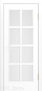 Двери-Лайндор-Аврора-эмаль-белая-стекло-белое