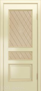 Двери-Лайндор-Калина-П-эмаль-бисквит-стекло-Лилия-бронза